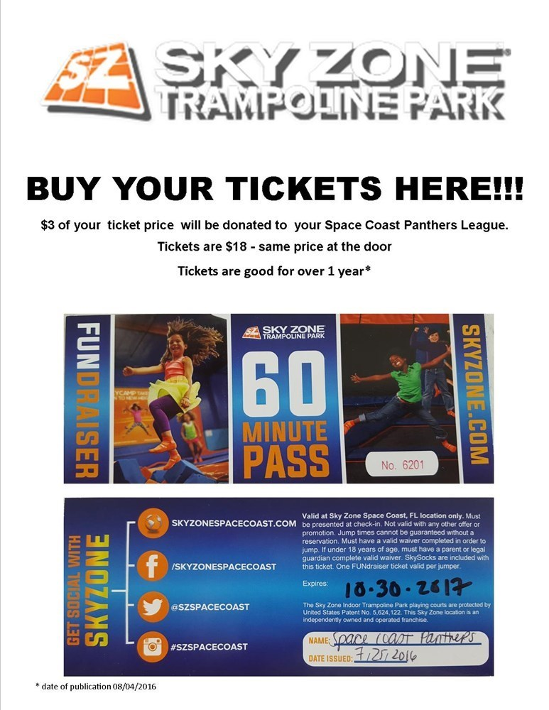 Sky Zone Trampoline - Park Tickets